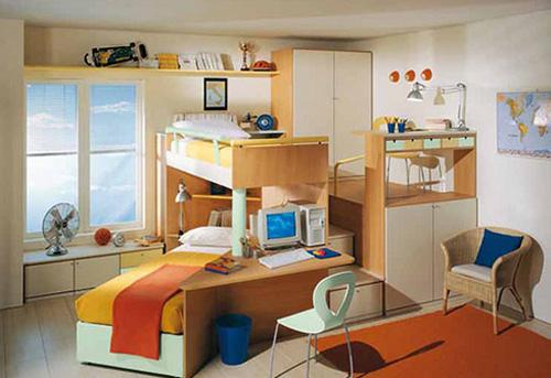 turuncu oda, büyük cocuk odasi