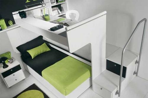 beyaz ranza, modern tasarim