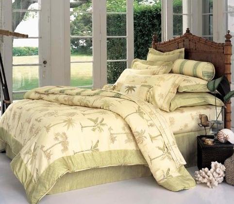 palmiye desenli,iki renkli uyku seti,sade tasarım