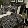 zebra desenli, modern uyku seti