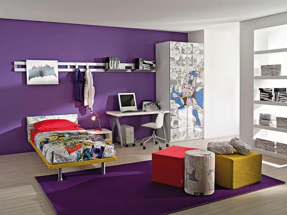 batman çocuk odası modeli, şık gardrop modeli