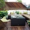 modern balkon dizayn, siyah balkon masa örneği