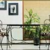 siyah balkon mobilyasi, güzel balkon masa modeli