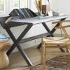 siyah calişma masası tasarımı, kullanışlı çalışma masa dizayn