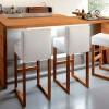 beyaz sandalye ahşap masa modeli