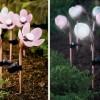 Çiçek Figürlü Bahçe Aydınlatma Elemanı Modeli