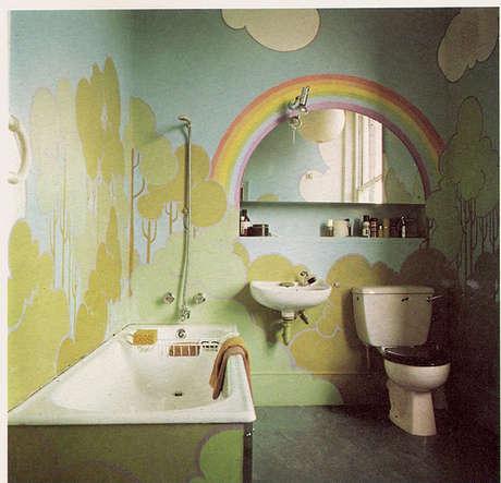 Dekoratif banyo boyama modeli