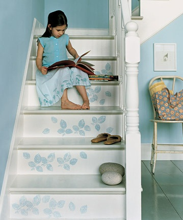 Dekoratif merdiven boyama