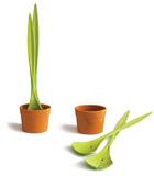 Bitki Figürlü Salata Servisi Tasarımı