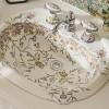 Çiçekli lavabo modeli