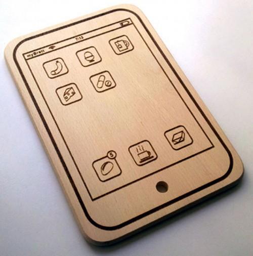 iphone Figürlü Kesme Tahtası Örneği