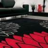 Kırmızı çiçekli halı tasarımı