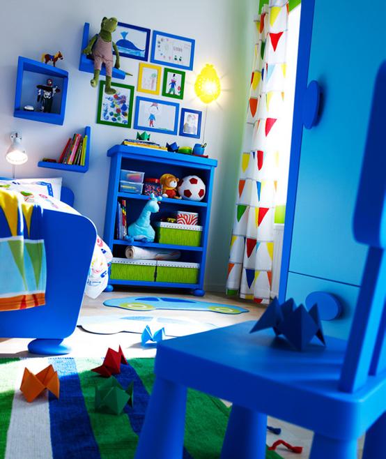 İkea mavi çocuk odası