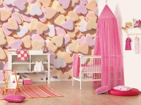 Kalpli çocuk odası duvar modeli