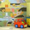 Renkli duvar kağıdı dizayn