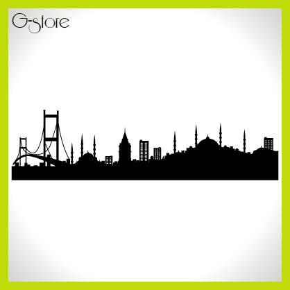İstanbul Desenli Sticer Dizayn