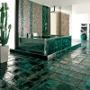 Yeşil banyo dizayn
