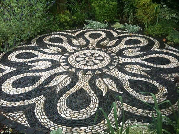 Bahçe Taş Zemin Dekorasyonu